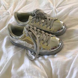 NWOT Metallic Sneakers